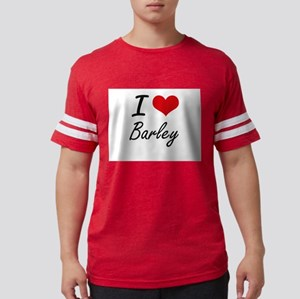 I Love Barley Artistic Design T-Shirt