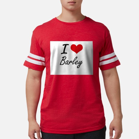 I Love Barley Artistic Design T-Shirt