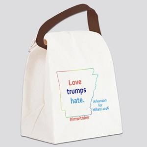 HIllary Arkansas 2016 Canvas Lunch Bag