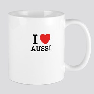 I Love AUSSI Mugs
