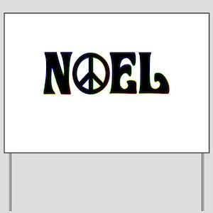 Noel Peace Sign Yard Sign