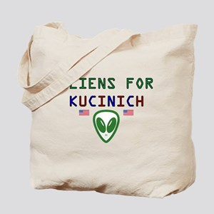 Aliens for Kucinich Tote Bag