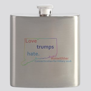 Hillary Connecticut 2016 Flask