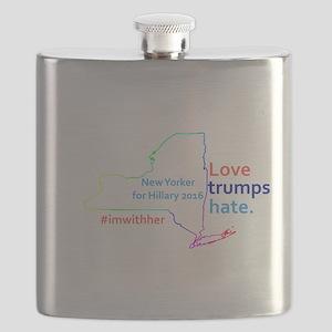 Hillary New York 2016 Flask