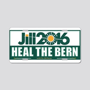 Jill Stein Heal the Bern Aluminum License Plate