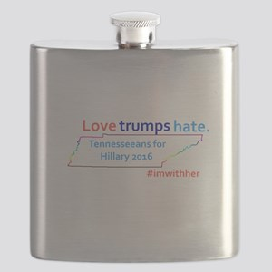 Hillary Tennessee 2016 Flask