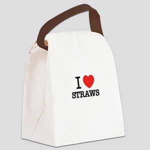 I Love STRAWS Canvas Lunch Bag