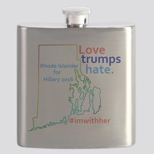 Hillary Rhode Island 2016 Flask