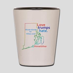 Hillary Rhode Island 2016 Shot Glass