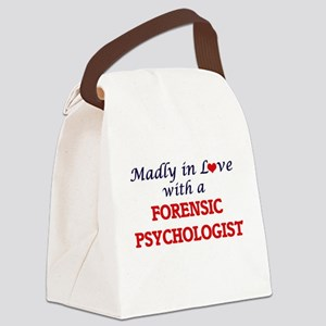 Madly in love with a Forensic Psy Canvas Lunch Bag