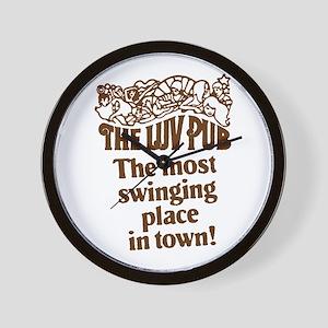 The Luv Pub Wall Clock