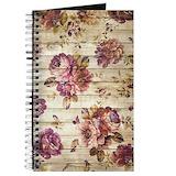 Floral wood Journals & Spiral Notebooks