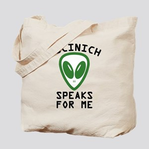 Kucinich Speaks For Me Tote Bag