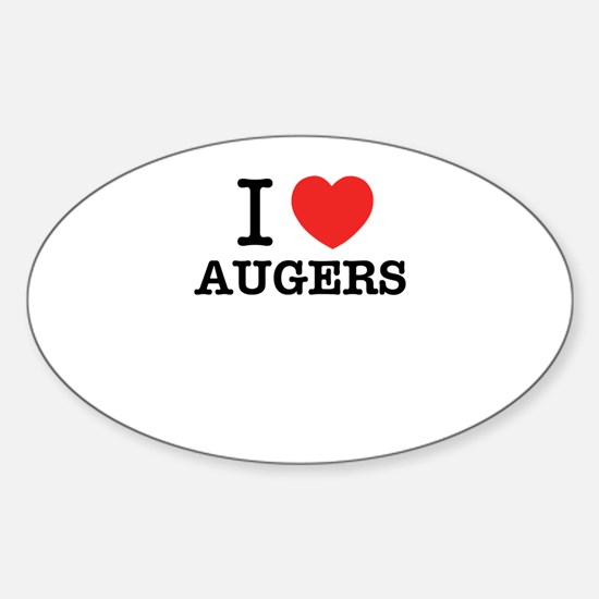 I Love AUGERS Decal