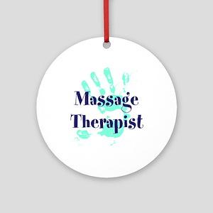 Massage Therapist Round Ornament