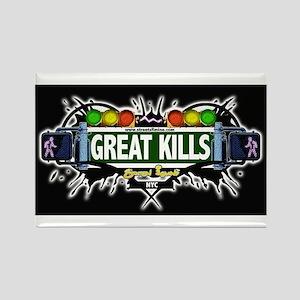 Great Kills (Black) Rectangle Magnet