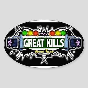 Great Kills (Black) Oval Sticker