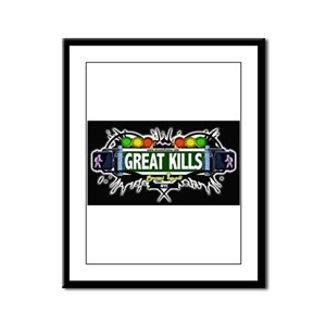 Great Kills (Black) Framed Panel Print