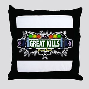 Great Kills (Black) Throw Pillow