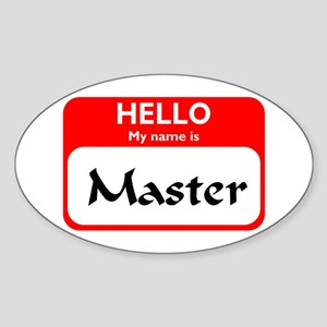 Master Oval Sticker