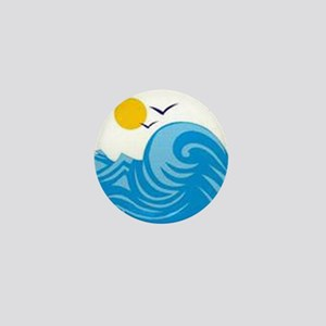 Beach Lover Mini Button