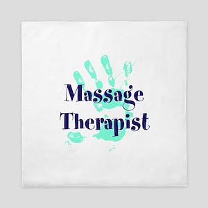 Massage Therapist Queen Duvet