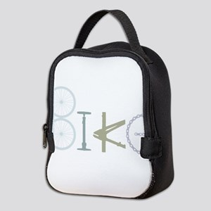 Bike Word from Bike Parts Neoprene Lunch Bag