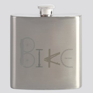 Bike Word from Bike Parts Flask