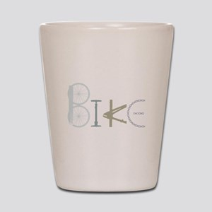 Bike Word from Bike Parts Shot Glass