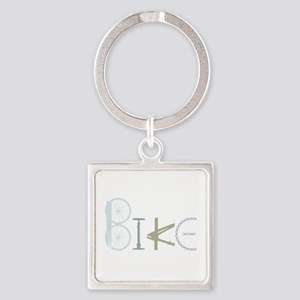 Bike Word From Bike Parts Keychains