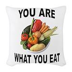 GOOD FOOD Woven Throw Pillow