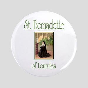 """St. Bernadette of Lourdes 3.5"""" Button"""