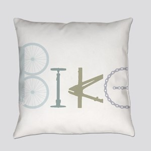 Bike Word from Bike Parts Everyday Pillow