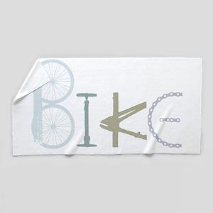 Bike Word From Bike Parts Beach Towel