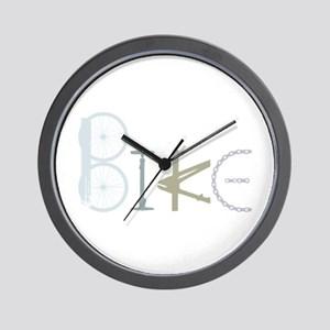 Bike Word From Bike Parts Wall Clock