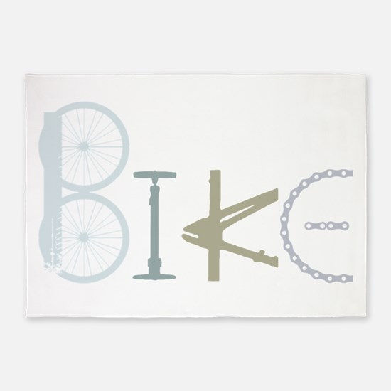 Bike Word from Bike Parts 5'x7'Area Rug