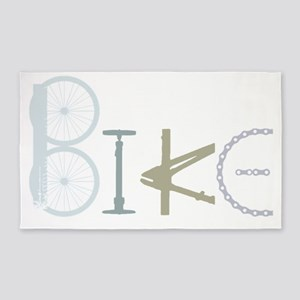 Bike Word From Bike Parts Area Rug