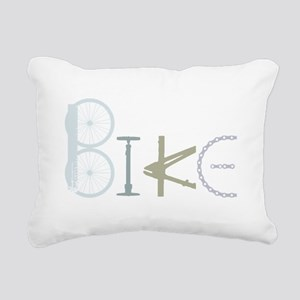 Bike Word from Bike Parts Rectangular Canvas Pillo