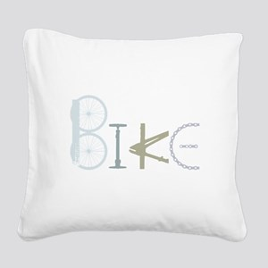 Bike Word from Bike Parts Square Canvas Pillow