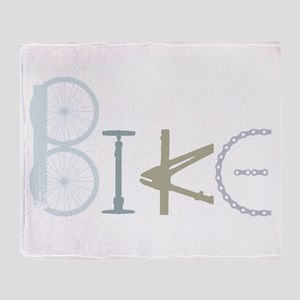 Bike Word from Bike Parts Throw Blanket
