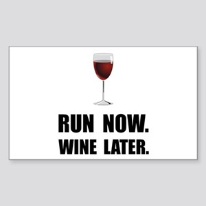 Run Now Wine Later Sticker