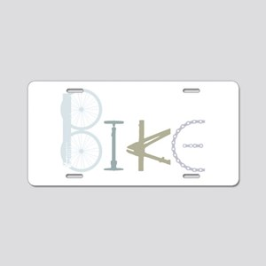 Bike Word From Bike Parts Aluminum License Plate