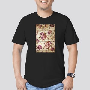 Vintage Romantic Floral Wood Pattern T-Shirt