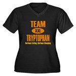 Team Tryptophan Women's Plus Size V-Neck Dark T-Sh