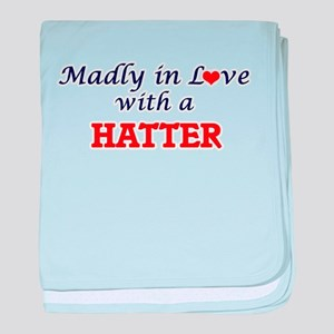 Madly in love with a Hatter baby blanket