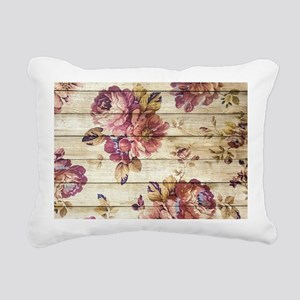 Vintage Romantic Floral Rectangular Canvas Pillow