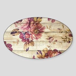 Vintage Romantic Floral Wood Pattern Sticker
