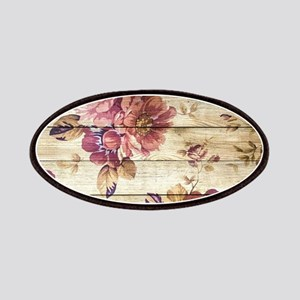 Vintage Romantic Floral Wood Pattern Patch