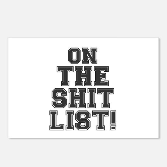 ON THE SHIT LIST! Postcards (Package of 8)