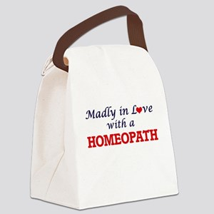 Madly in love with a Homeopath Canvas Lunch Bag